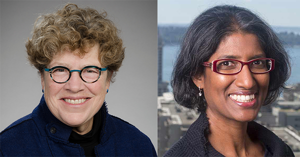 Side by Side Photo of Connie Celum and Ruanne Barnabas, CFAR Director and Co-Director, Respectively