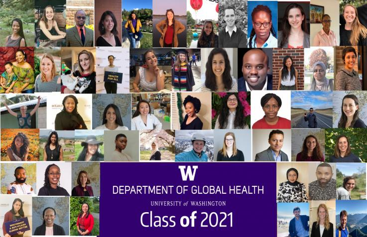 Collage of Portraits of the Graduating Class of 2021