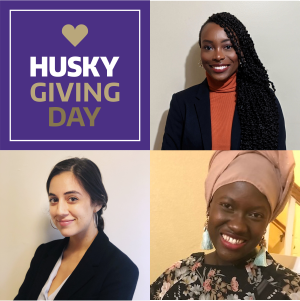 From top left: Husky Giving Day, Shadae Paul, Mame Mareme Diakhate, Sofia De Anda