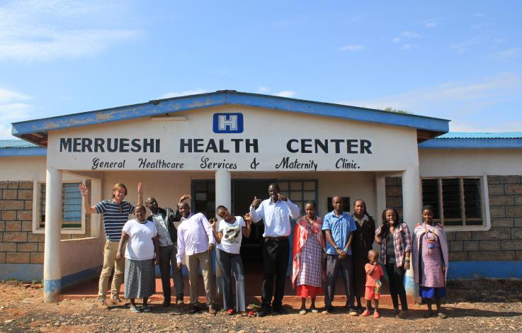 Photo of workers at Merrueshi village clinic