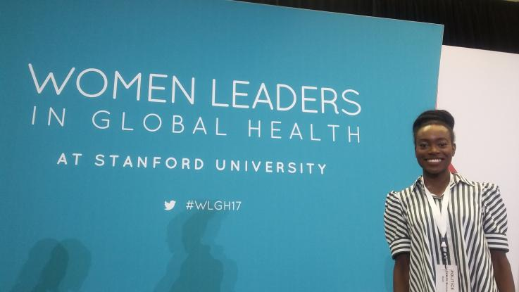 Photo of Shadae Paul at the Women Leaders in Global Health Conference 2017