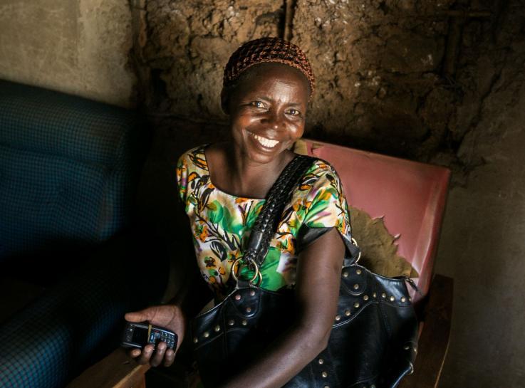 Photo of a woman at the Bondo sub-County Hospital in Kenya