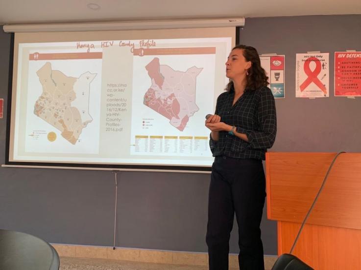 Alexis Anderson in Kenya