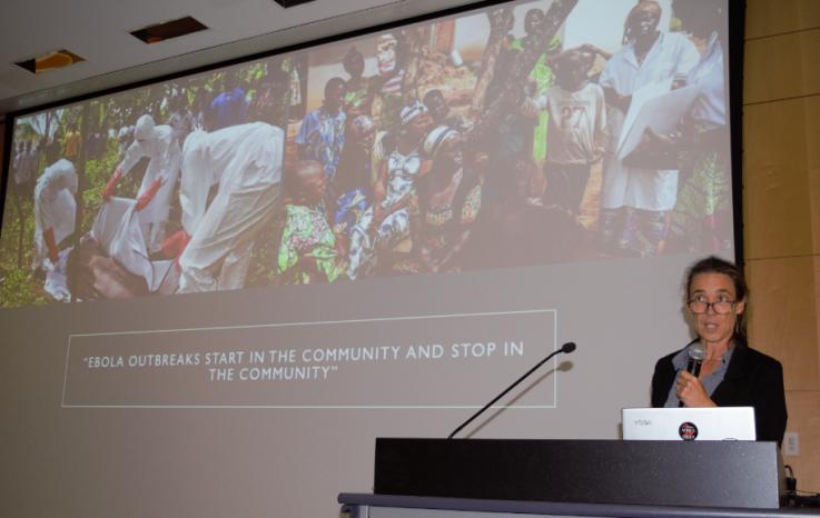 Karin Huster speaking at DGH Career Week