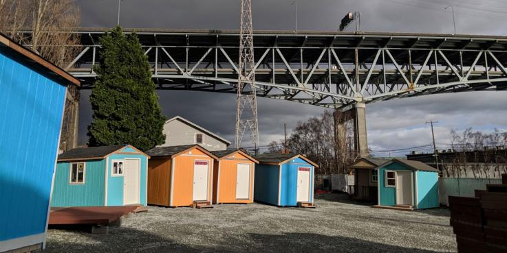 A tiny house village in the Seattle area