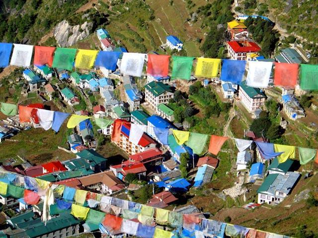 Photo of Nepalese prayer flags