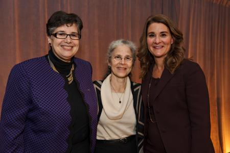 Photo of Melinda Gates, Ana Mari Cauce and Judi Wasserheit