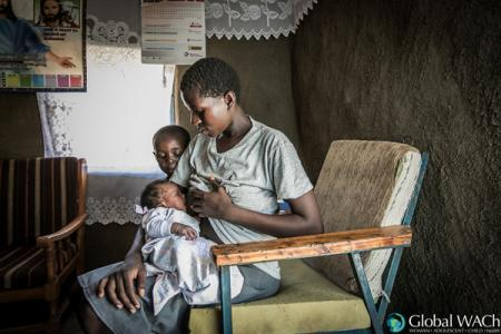 Woman and child in Kenya
