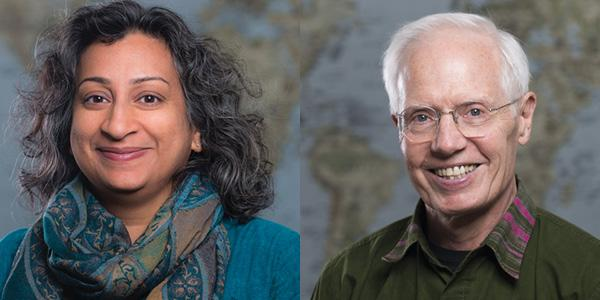 Side by Side Profile Photo of Deepa Rao & Steve Gloyd