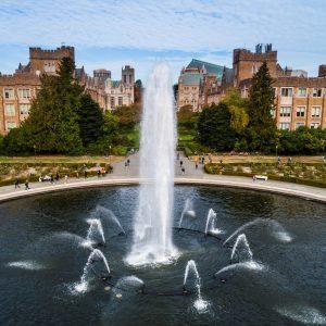 Drumheller Fountain on University of Washington's Seattle Campus