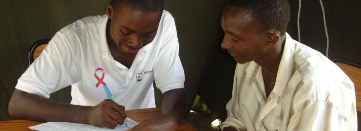 UW MPH student Ibrahim Ali does HIV pre-test counseling in Ghana