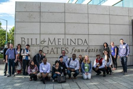 Summer course participants outside Gates Foundation