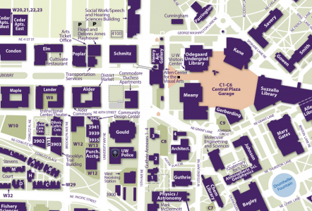 Map of UW campus