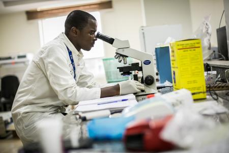 Photo of a researcher in Kenya