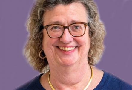 Profile photo of Lee Ann Campbell on a purple background