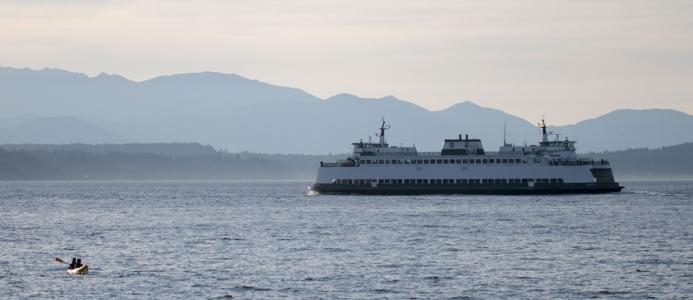 a ferry near seattle