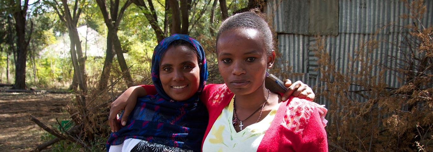Health workers in Ethiopia