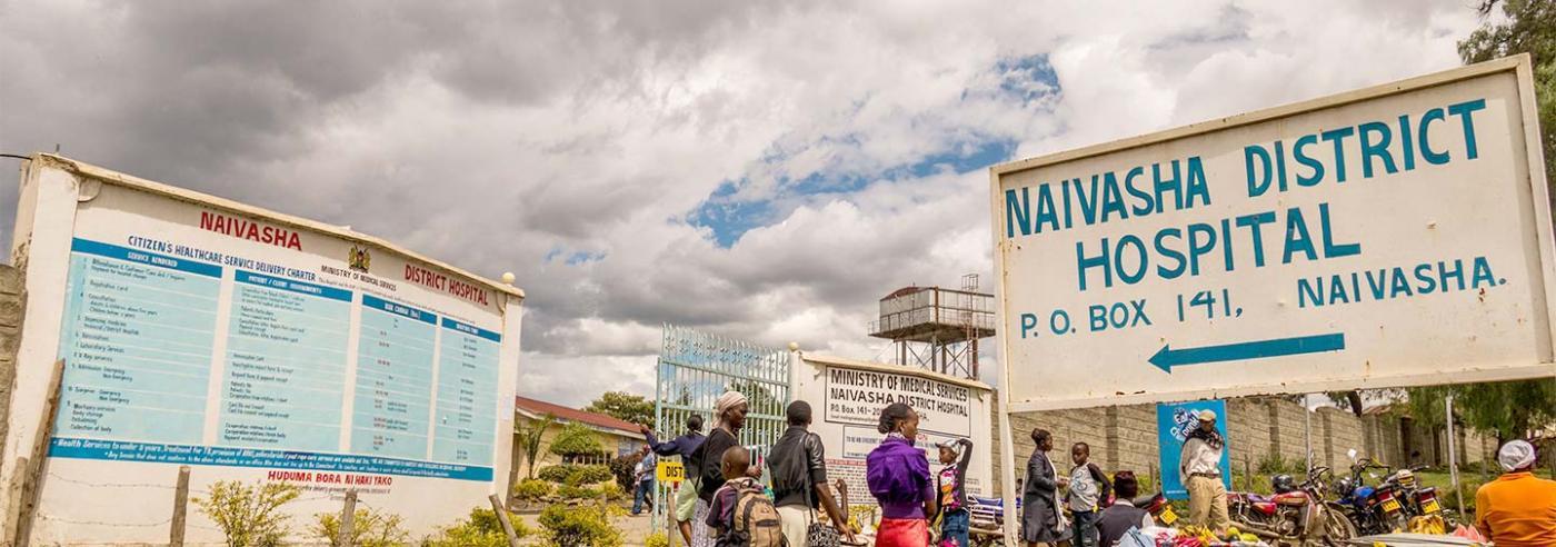 Outside Naivasha district hospital.