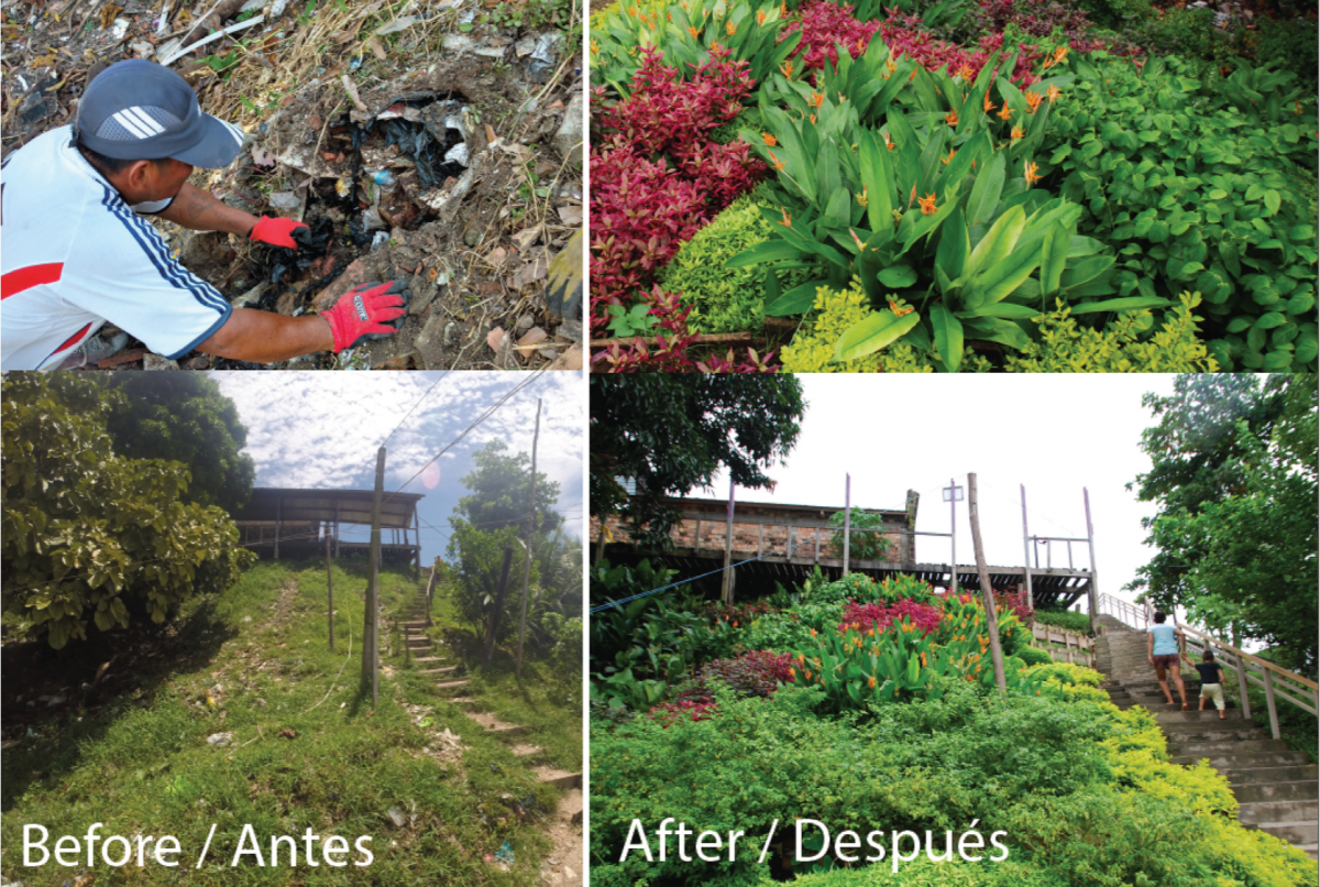 Before and After: Community-based environmental design projects in Iquitos, Peru