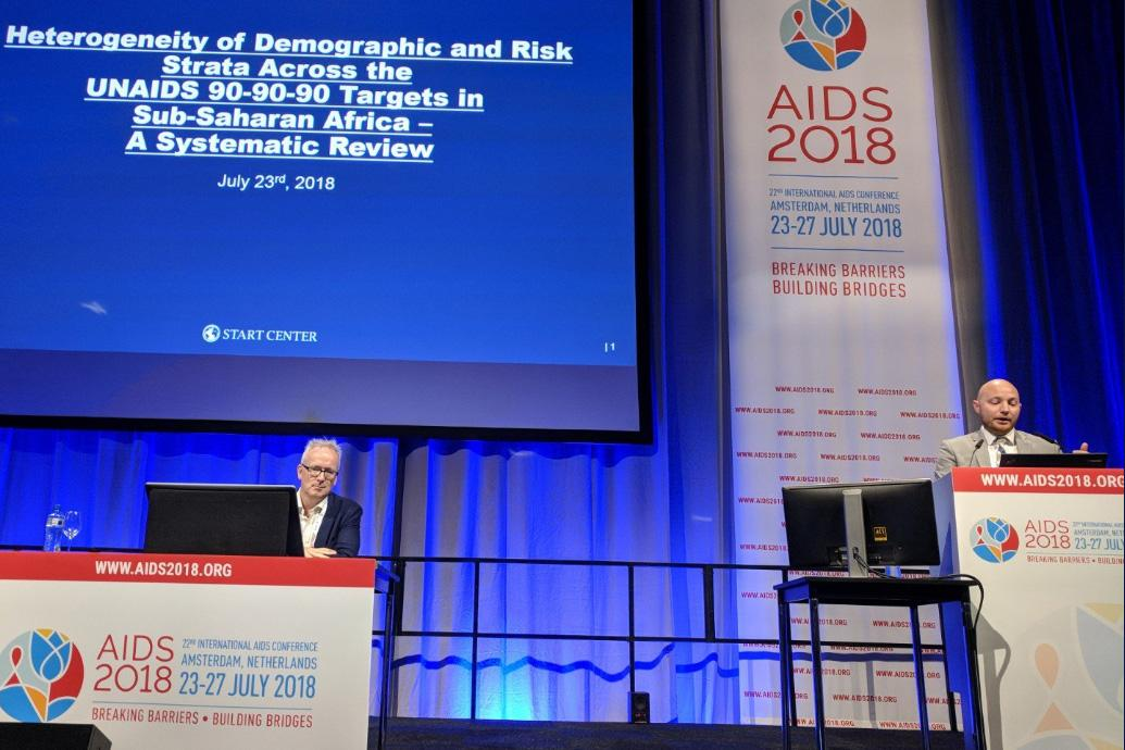Dylan Green presented a critical analysis of the epidemiologic mechanisms that may undermine the UNAIDS 90-90-90 targets in sub-Saharan Africa at the AIDS 2018 conference.
