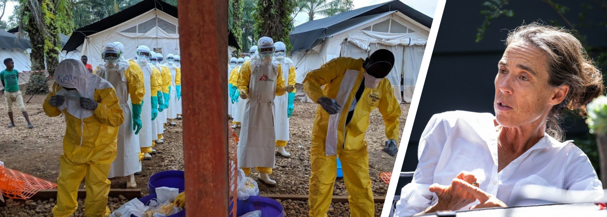 Karin Huster and a team of Ebola workers