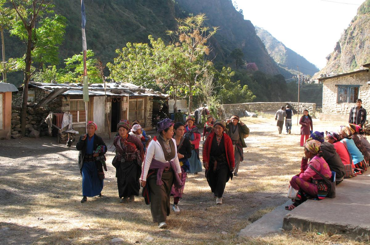 Women coming to a clinic in rural Nepal. Photo credit: Aradhana Thapa (MPH '15)