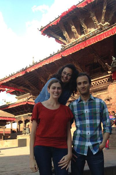 MPH students Aradhana Thapa, Nicole Ide and Sudeep Karki.