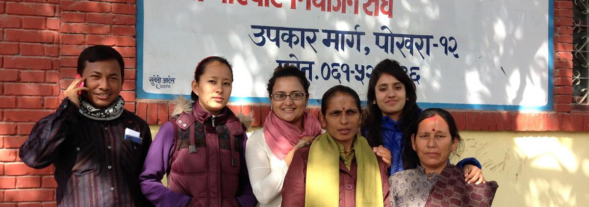 Aradhana Thapa (MPH '15) and Team from family planning clinic in Nepal