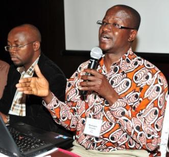 Man talking at PEPFAR workshop