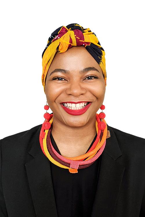 Portrait of Naomi Nkinsi
