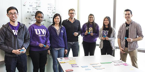 Nuttada (third from left) with undergraduate researchers from the Lai and Lutz labs at the UW