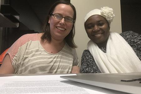 Rabi Yunusu, Research Assistant, University of Washington Department of Global Health, with faculty mentor Sarah Benki-Nugent.