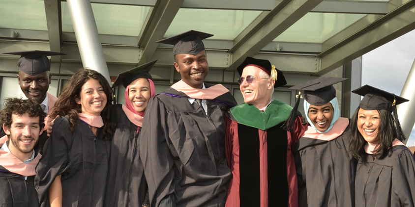 Steve Gloyd with Graduates of the MPH in Global Health Program
