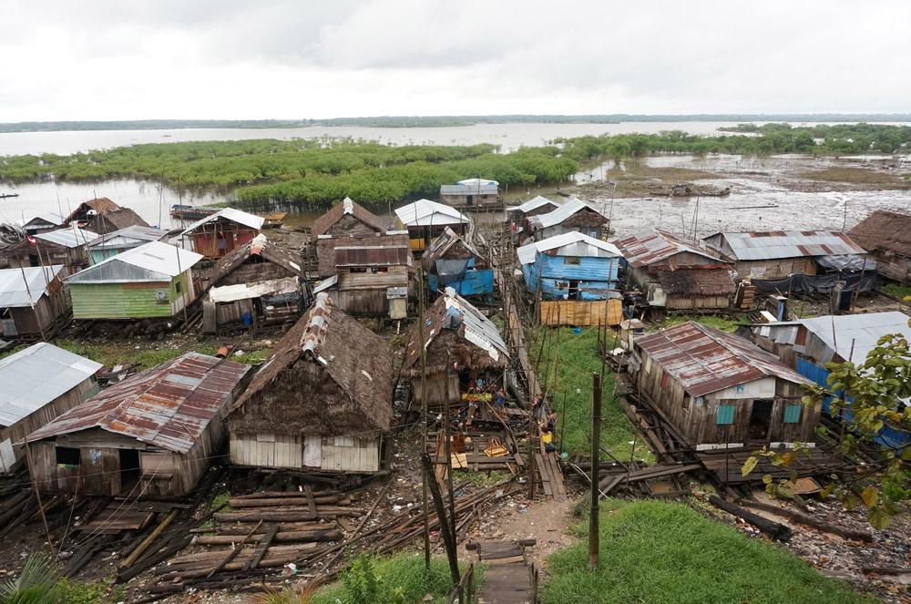 Houses in Claverito, a slum in Peru