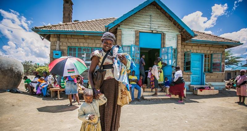 Photo of Woman and child near Naivasha Kenya