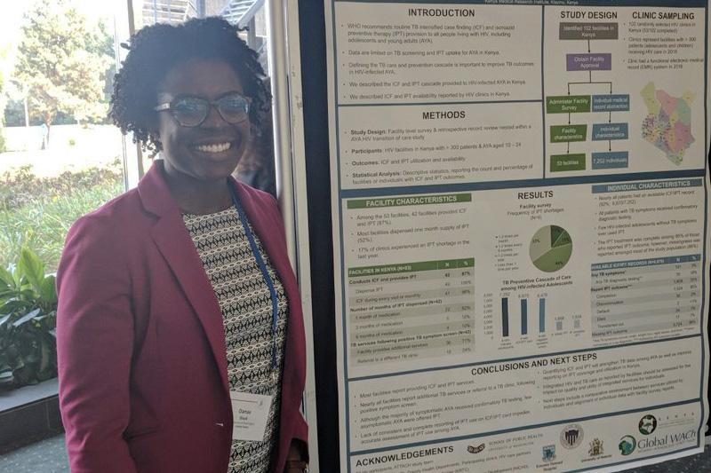 Danae Black presented research on tuberculosis preventive treatment among HIV-infected adolescents in Kenya at the AIDS 2018 conference.