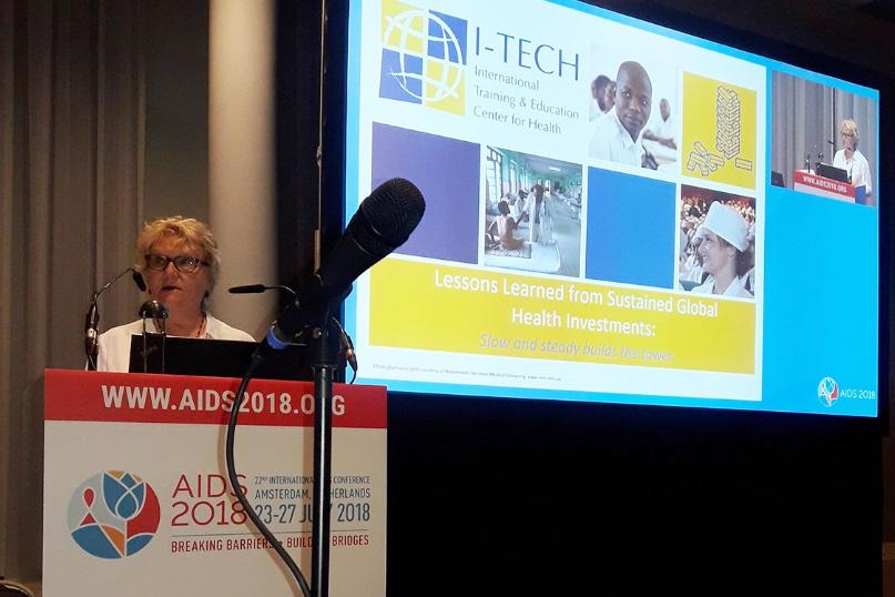 "Dr. Ann Downer presented in the AIDS 2018 conference session ""Keeping it Up: National Ownership and Financial Sustainability""."