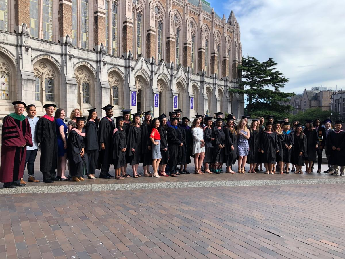 Members of the Class of 2019 pose in Red Square