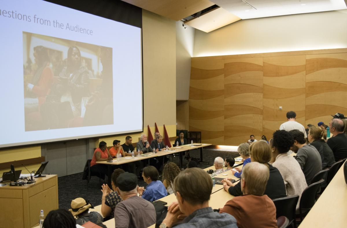 More than 300 UW students, faculty, staff, and community members participated in a discussion on police violence as a public health issue in Seattle.