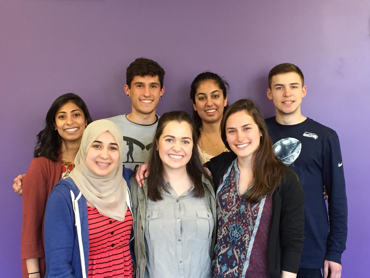 Picture of students in Global Health Undergraduate Leadership Committee 2014-15