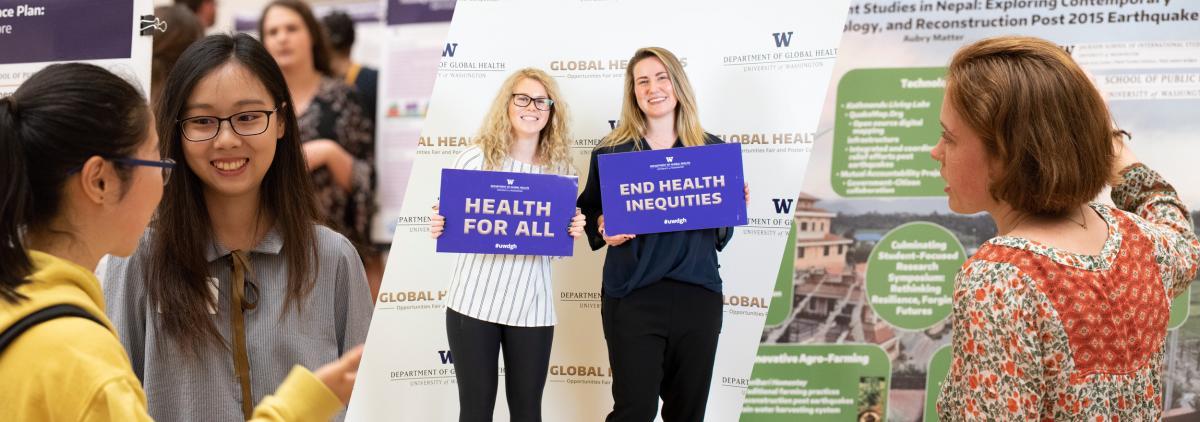 Photo of Department of Global Health undergraduates