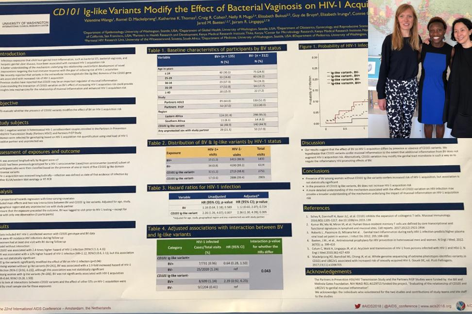 Val Wanga presented on factors eliciting host genital tract inflammation that may heighten HIV-1 acquisition risk at the AIDS 2018 conference.