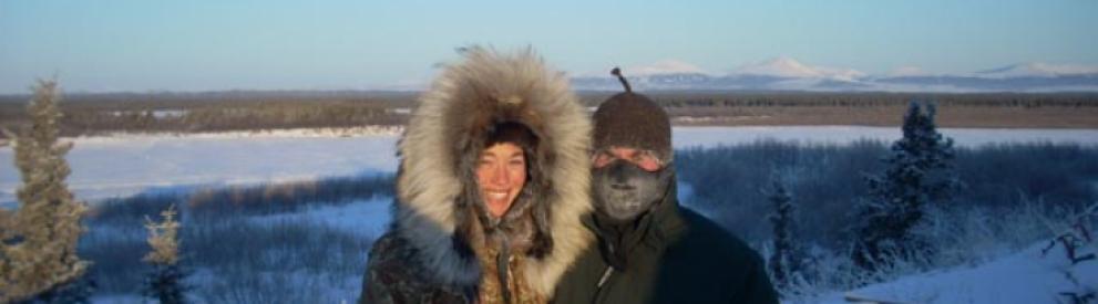 Student Charles Ross Baldwin in Noorvik, Alaska.