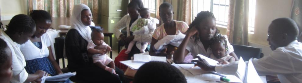 Mothers and babies in Kenya