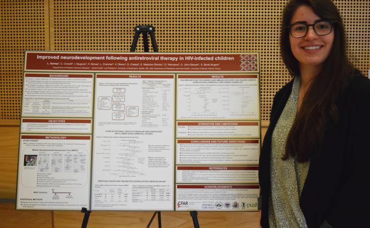 Photo of Lauren Gomez with her poster