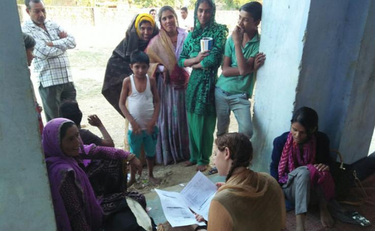 community members in Rajasthan, India