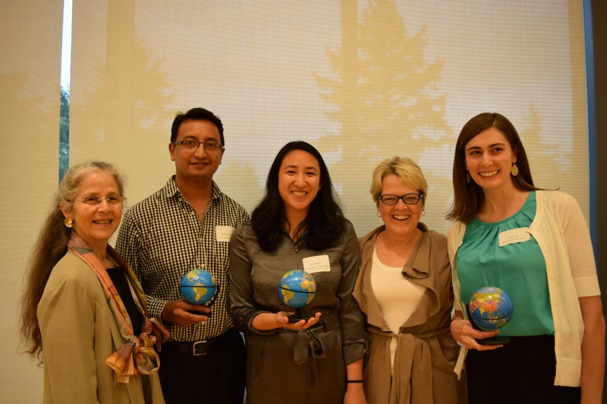 Annette and Judy with winners with Nepal projects